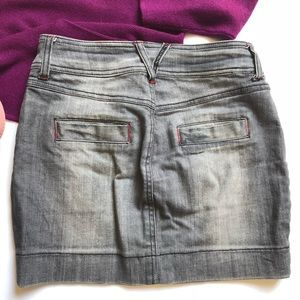 Reserved Skirts - Reserved denim mini skirt; size 0